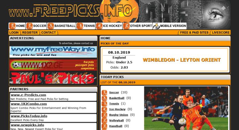 Access freepicks info  www freepicks info Expert Free Picks for