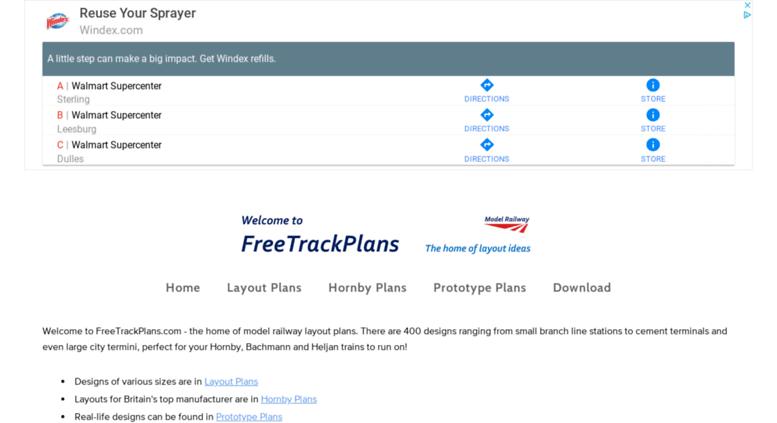 Access freetrackplans com  Free Track Plans for your Model Railway
