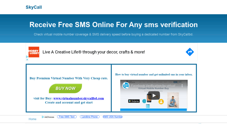 Free Virtual Number Receive Sms