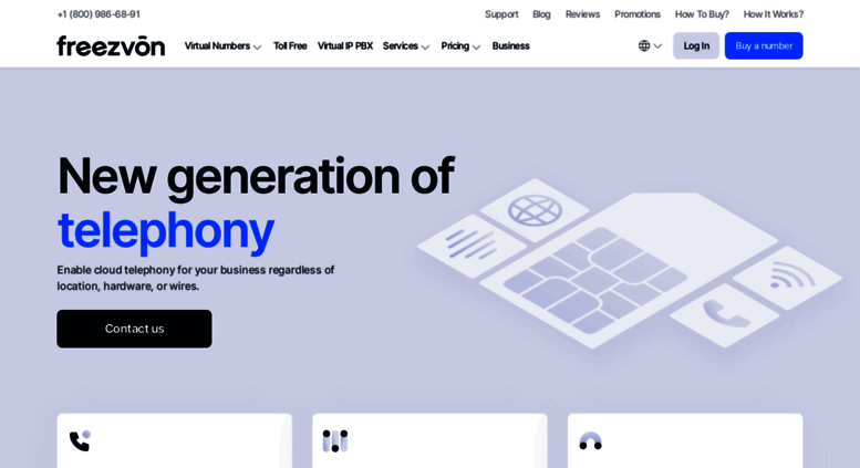 Access freezvon com  Get virtual phone numbers, SIP, VoIP
