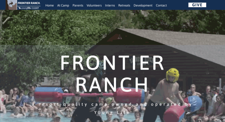 Access frontierranch younglife org  Welcome to Frontier Ranch!