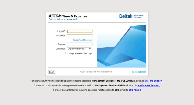 Access fstime urs com  Deltek Time & Expense - Login