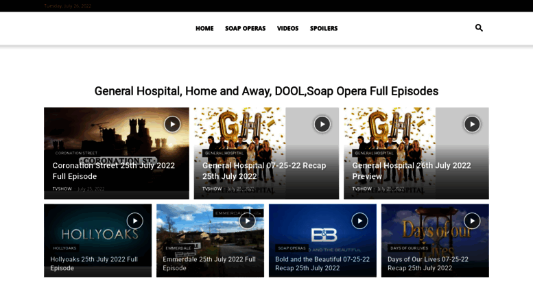 Access fulltvshows org  General Hospital, Home and Away