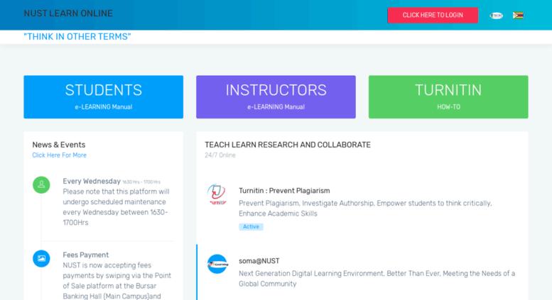 Access fundo nust ac zw  NUST :: Learn Online Portal