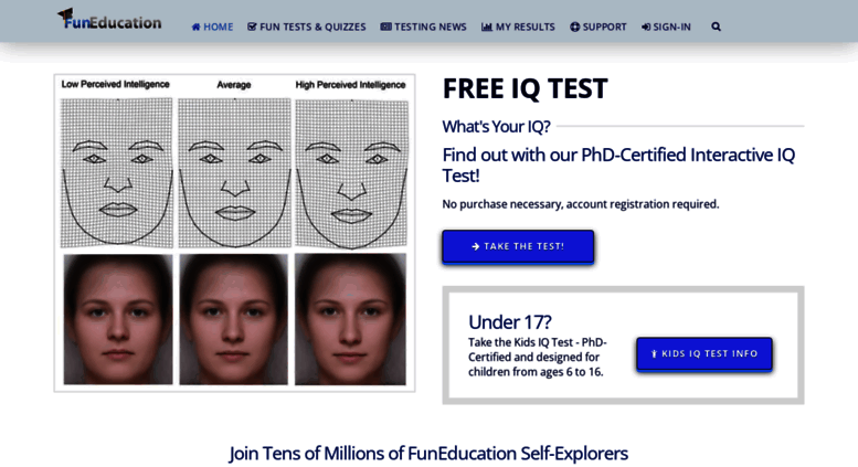 access funeducation com funeducation tests and quizzes free iq