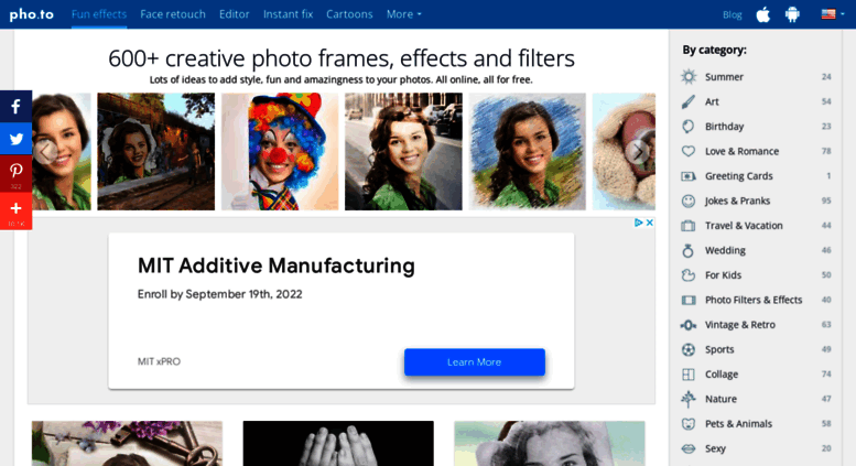 Fun Photo Frames Effects Filters Online Frameviewjdi