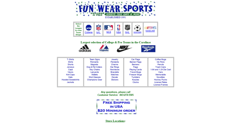 76a93f9463 Access funwearsports.com. FUN WEAR SPORTS-NCAA College
