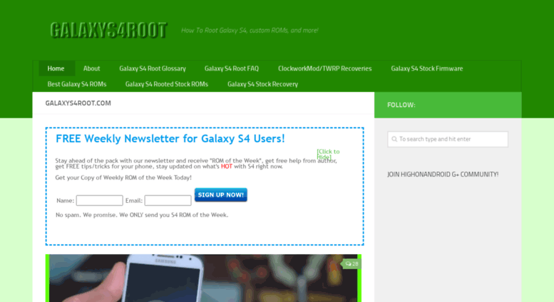 Access galaxys4root com  GalaxyS4Root com - Learn How To