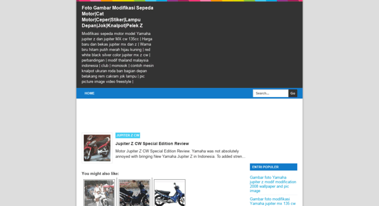 Access Gambar Yamaha Jupiterblogspotcom Foto Gambar Modifikasi