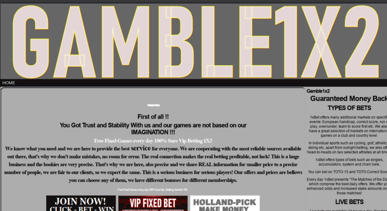 Access gamble1x2 com  Free Fixed Vip Sure Vip HT/FT correct