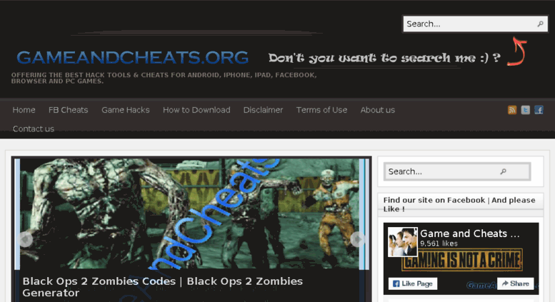 Access gameandcheats org  GameAndCheats - Android iOS