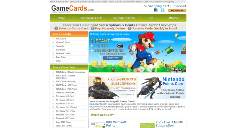 Access gamecards com  Game Cards - Prepaid Game Card Codes and Points