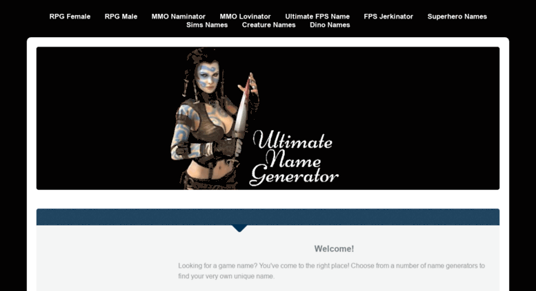 Access gamenaminator com  Ultimate Name Generator