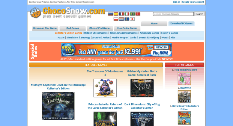 Access games chocosnow com  Download Casual PC Games