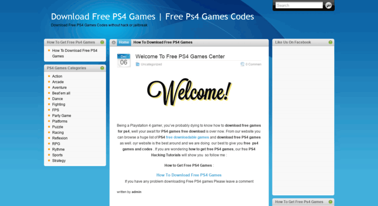Access gamesps4free com  Download Free PS4 Games | Free Ps4
