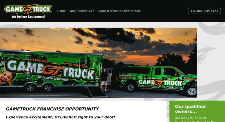 Access gametruckfranchising com  What is GameTruck?