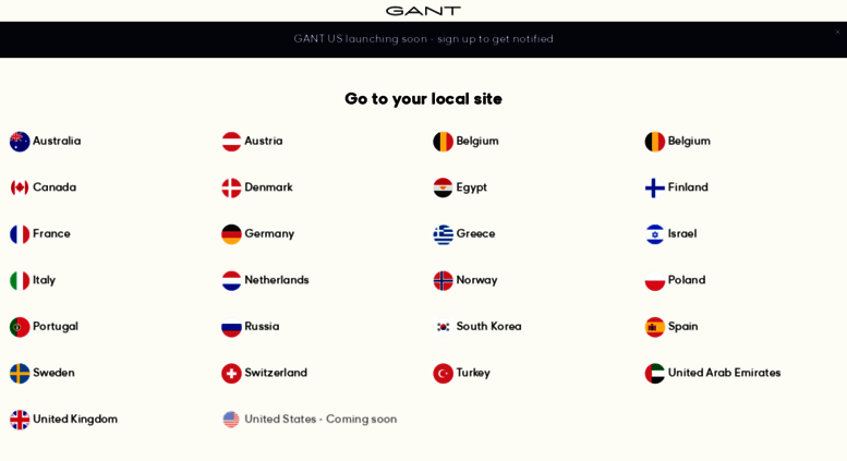 Access . GANT US Store | Men's Shirts, Blazers for