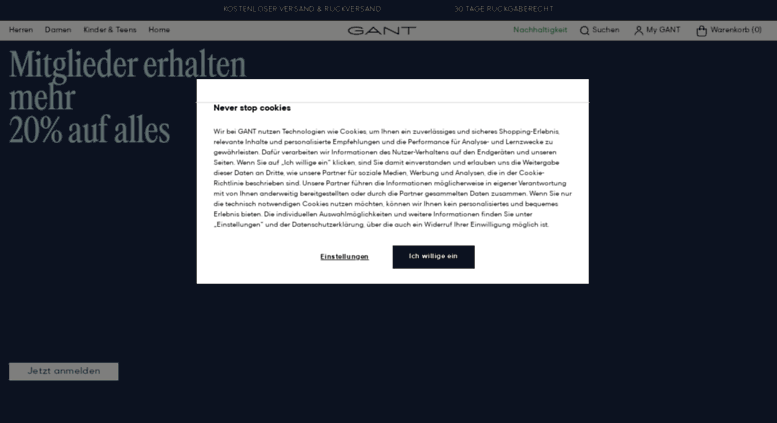 competitive price 7310e 976c9 Access gant.de. GANT Deutschland - Ihr original GANT ...
