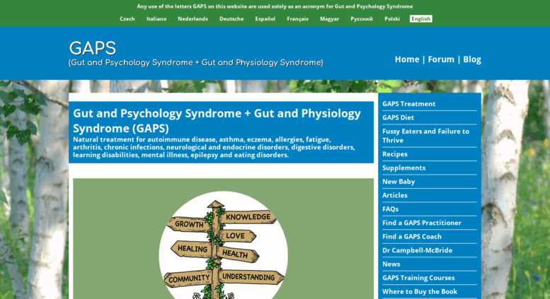 Access gaps me  Gut and Psychology Syndrome (GAPS) - Natural