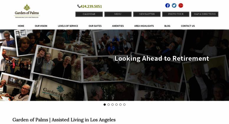 Access gardenofpalms com  Los Angeles Assisted Living Retirement