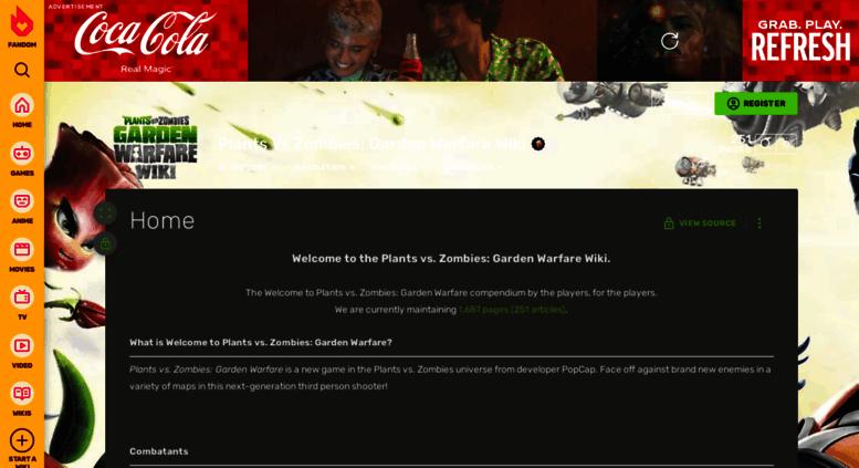 Access gardenwarfare gamepedia com  Plants Vs Zombies