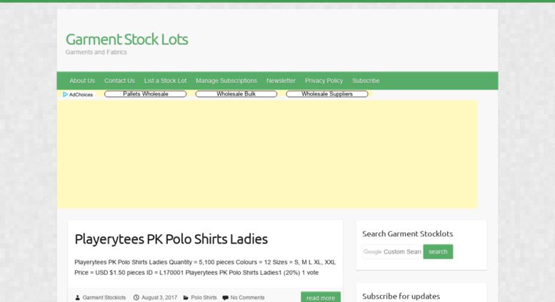 Access garment-stocklots com  Garment Stock Lots - Garments