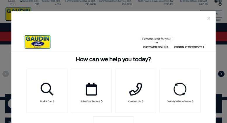 Ford Dealership Las Vegas >> Access Gaudinford Com Ford Dealer In Las Vegas Nv Gaudin