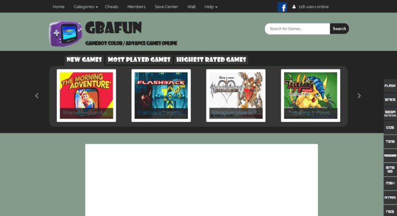 Access gbafun com  Gbafun is a website let you play Retro Gameboy