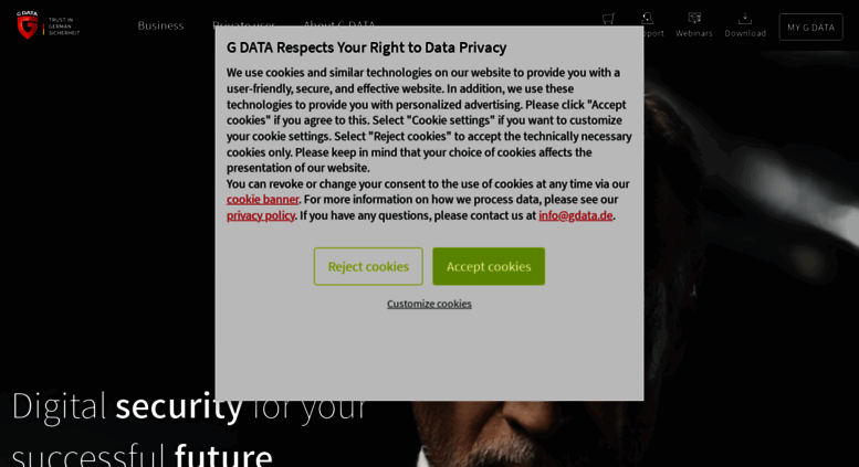 Access gdatasoftware com  The best G DATA of all time - Test version