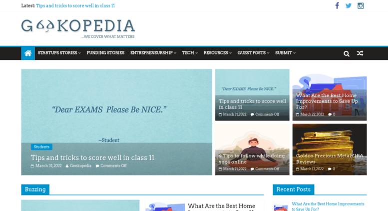Access geekopedia me  Startups, Entrepreneurship, Management