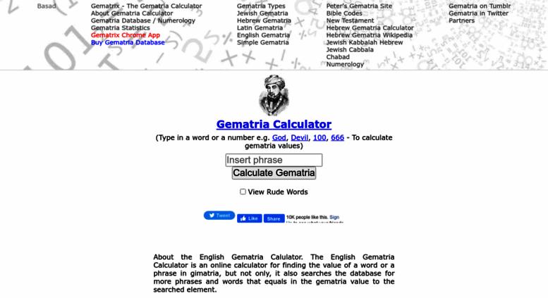 Access gematrix org  English, Hebrew and Simple Gematria