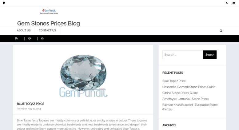 Access gemstonesprices in  Gem Stones Prices Blog