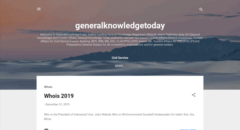 Access generalknowledgetoday in  General Knowledge Today
