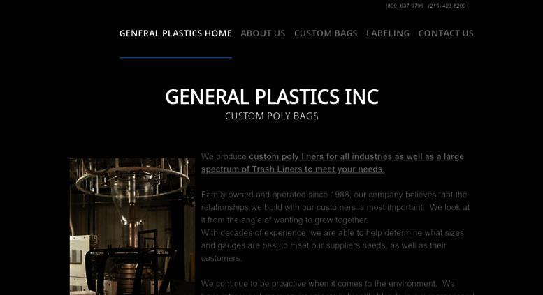 Access generalplasticsinc com  GENERAL PLASTICS INC