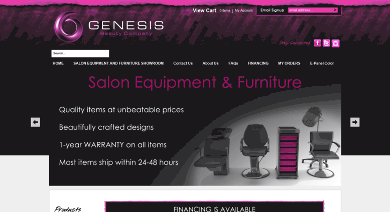 Access genesisbeautyco com  Beauty Salon Equipment For Sale