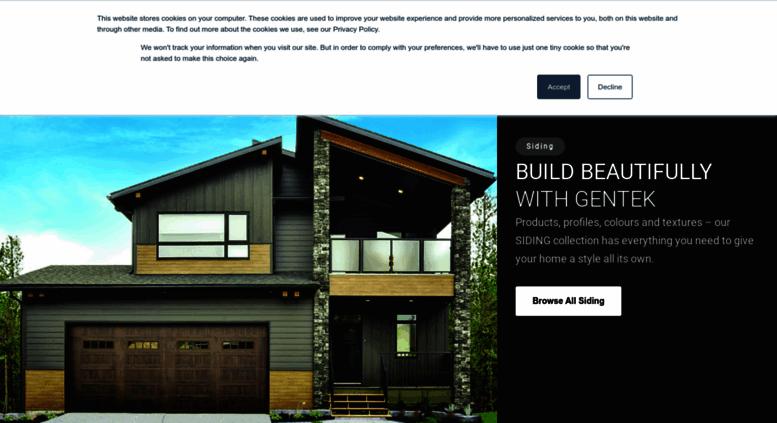 Access gentek ca  Index | Gentek Building Products