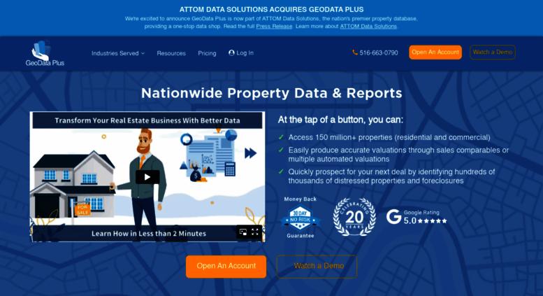 Access geodataplus com  GeoData Plus: Nationwide Property Data