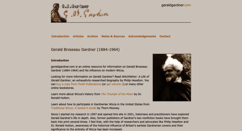 Access geraldgardner com  Gerald Gardner - The History of Wicca