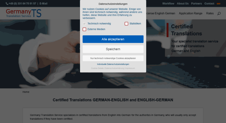 Access germany-translation-service com  Certified Translations
