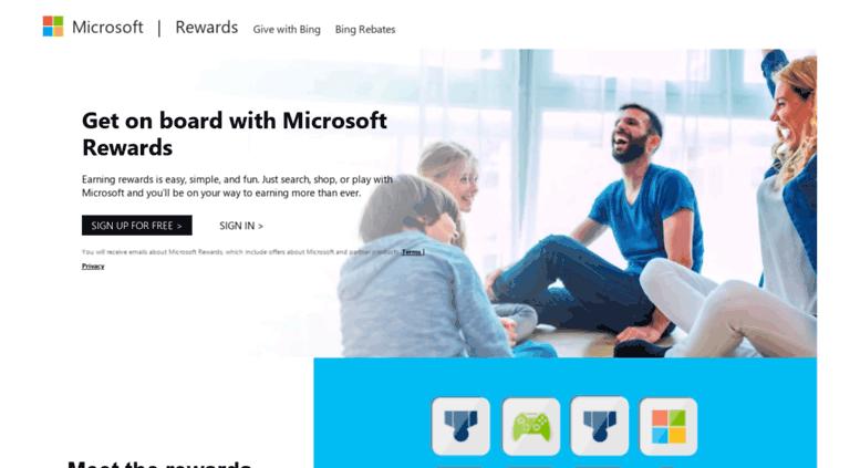 Access getbingrewards com  Microsoft Rewards - Get on board with