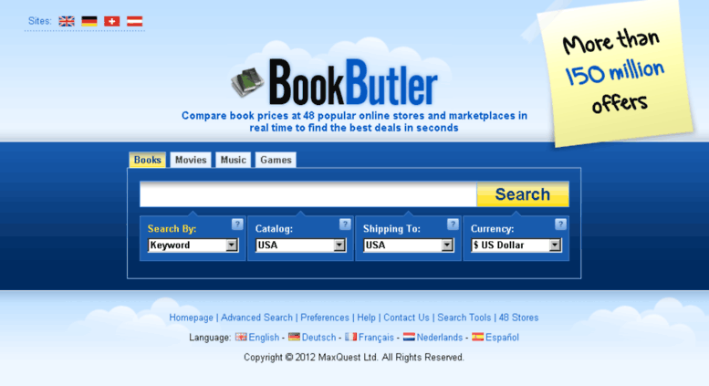 Access getcheapbooks com  BookButler - Book price comparison