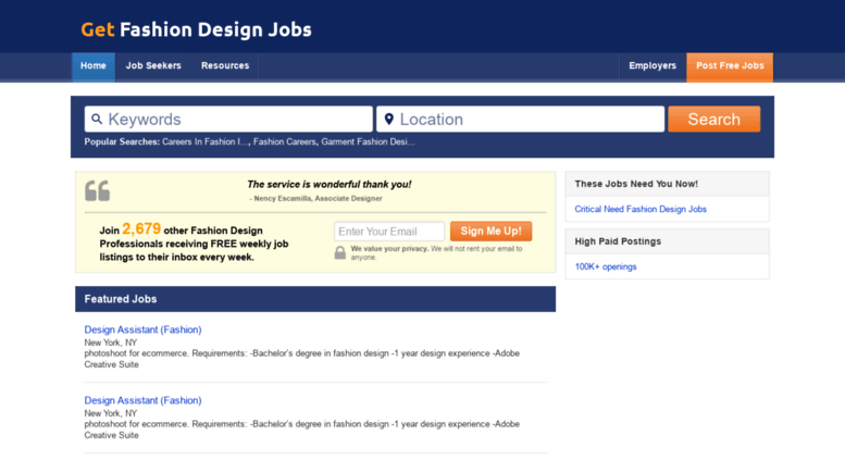 Access Getfashiondesignjobs Com Your Fashion Design Jobs Site Getfashiondesignjobs Com