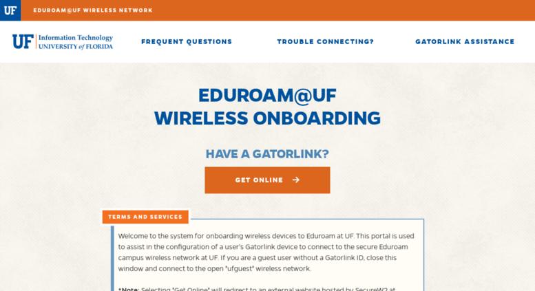 Access getonline ufl edu  UF Wireless - GetOnline