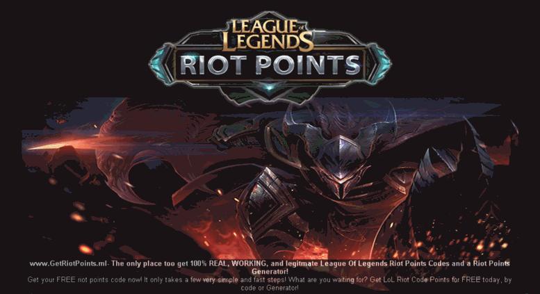 Access getriotpoints ml  FREE League of Legends Riot Points