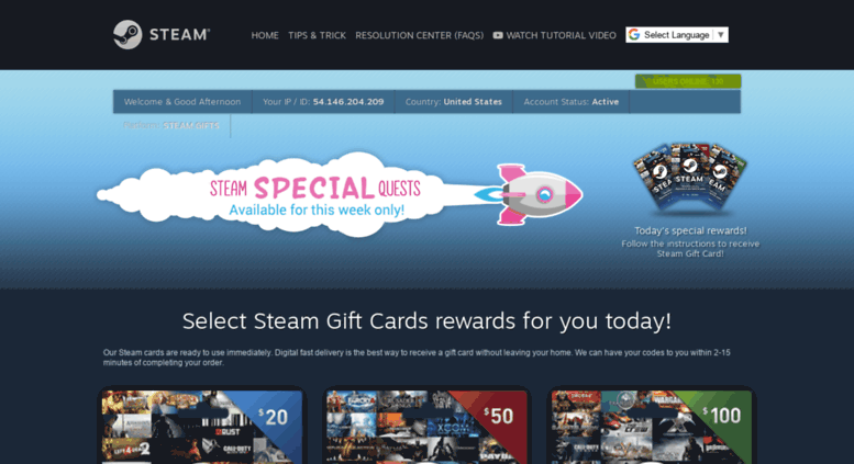 Access getsteamcodes com  Free Steam Codes | Free Steam Wallet Codes