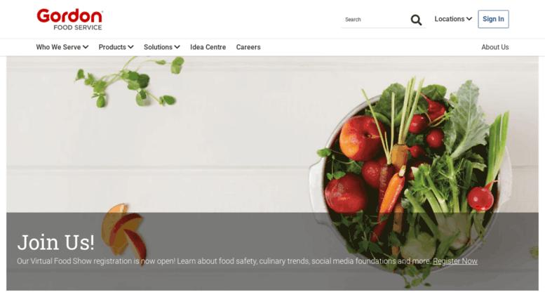 Access gfscanada com  Gordon Food Service