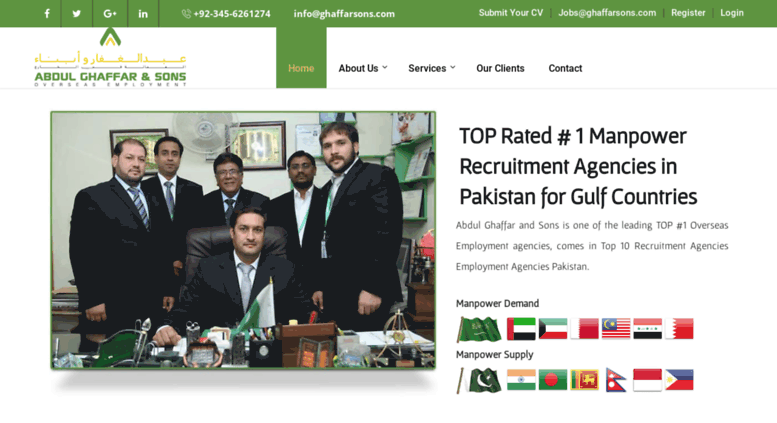 Access ghaffarsons com  Manpower Recruitment Agencies in
