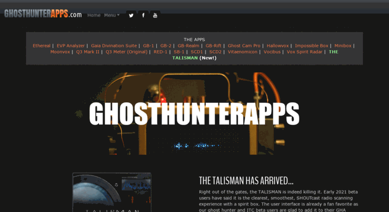 Access ghosthunterapps com  Ghost Hunter Apps - GHOSTHUNTERAPPS com