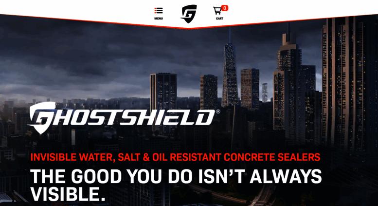 Access ghostshield com  Water, Oil & Salt Repellent Concrete