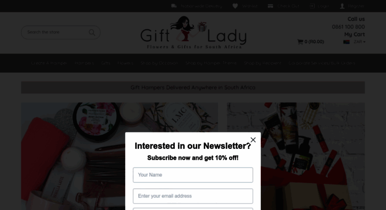 giftlady.co.za. Gifts South Africa